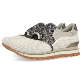802225d7b2c Oferta · Sneakers estilo slip on Gioseppo gris con detalles plateados para  mujer ...