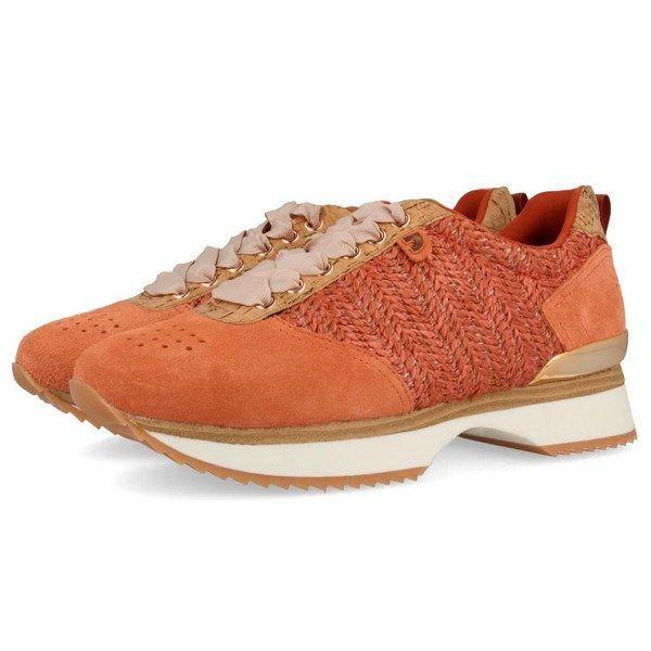 10e7c36a Sneakers de mujer Gioseppo color coral 43308 con diferentes texturas