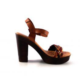 Sandalias de tacón D'Ivan trenzadas en cuero