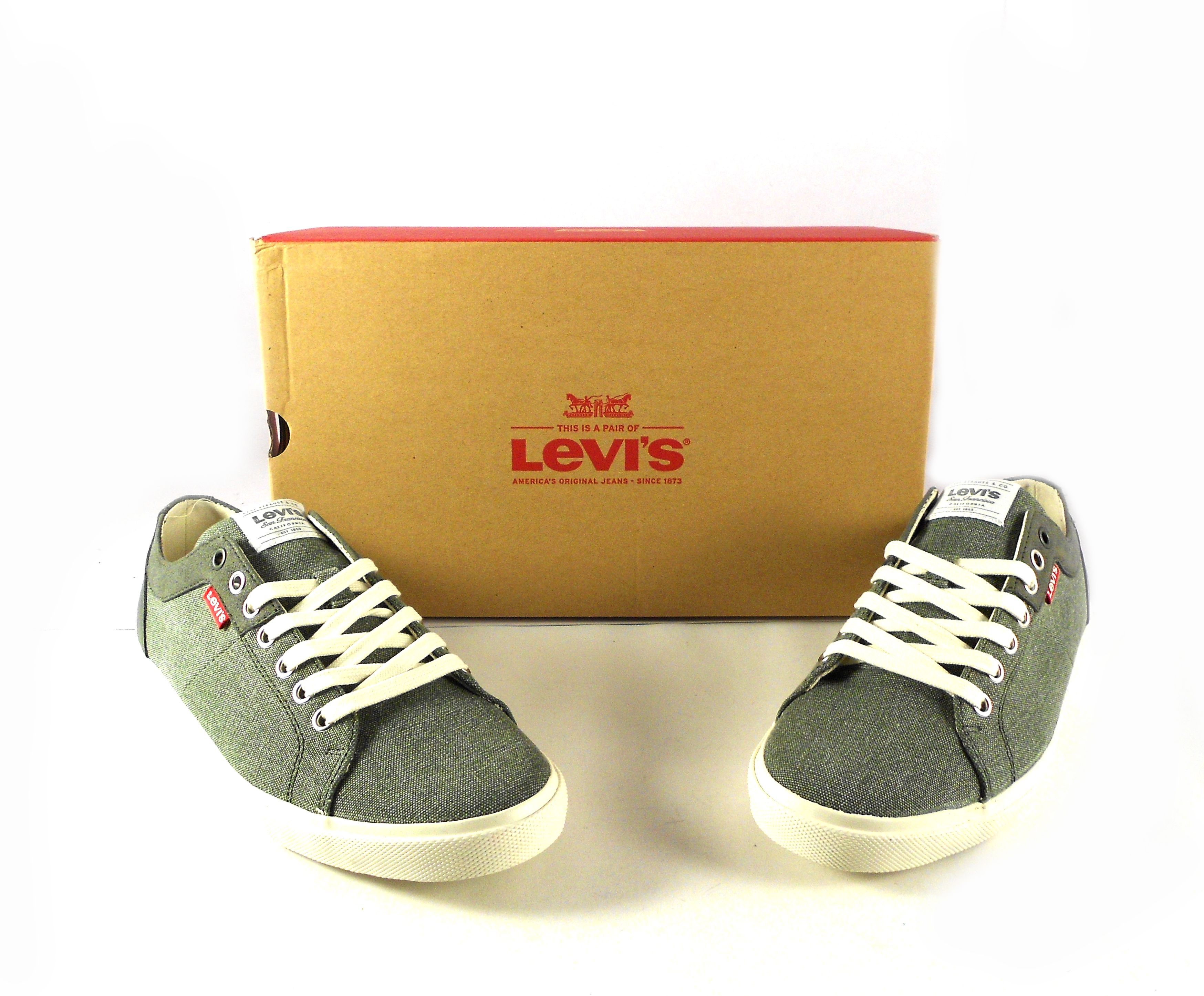 9c4d36d252c Zapatillas para hombre Levi s Woods color verde kaki