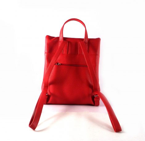 Mochila para mujer Torrens con detalle de borlón en rojo o en camel