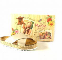 Zuecos tiras cruzadas Marila Shoes modelo Daniela