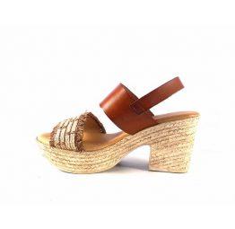 Sandalias de tacón Marila Shoes Luxury con tiras combinadas