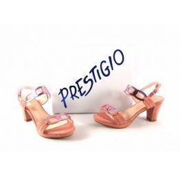 Sandalias de tiras espejo Prestigio color rosa salmón