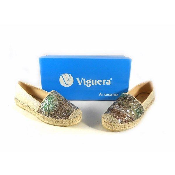 Zapatillas de esparto planas Viguera multi modelo Amaranto