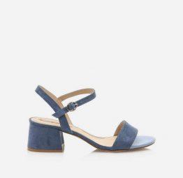 Sandalias de tacón Mustang modelo Aura color azul
