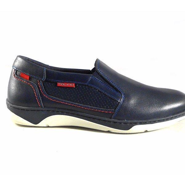 Zapatos para hombre Tolino sin cordones color azul marino