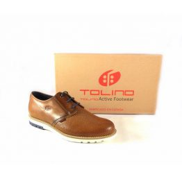 Zapatos para hombre con cordones Tolino oxford color cuero