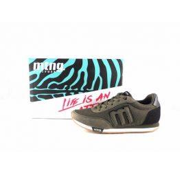 Zapatillas sneakers hombre Mustang Funner verde kaki 82600