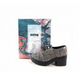 Zapatos Oxford Musrtang modelo Mila estampado cuadros