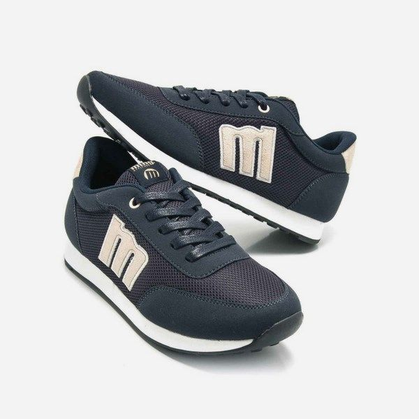 Zapatillas para mujer mujer Mustang Jogging 69194 azul marino