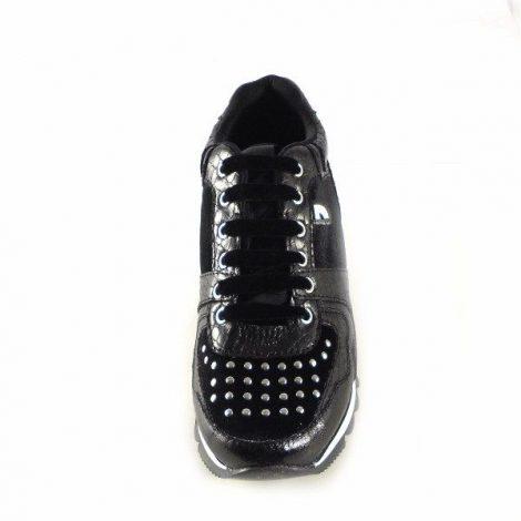 Sneakers Gioseppo negras con diferentes texturas 46085