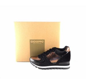 Sneakers Gioseppo cobre y negro con cuña interna 46562