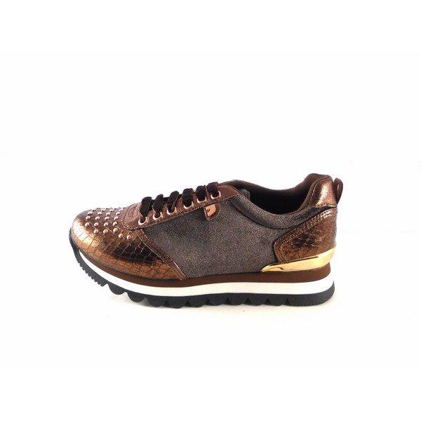 Sneakers Gioseppo cobre con diferentes texturas 46521