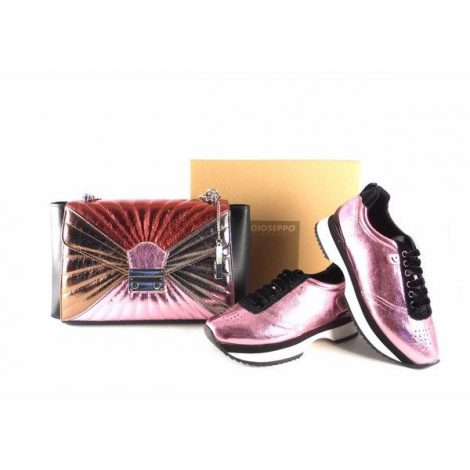 Sneakers Gioseppo rosas metalizadas para mujer 46526
