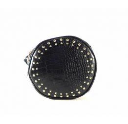 Bolso Gioseppo circular negro con tachuelas para mujer 46469