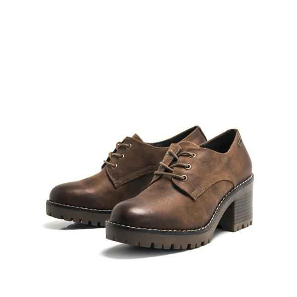 distribuidor mayorista Productos nuevas variedades Zapatos para mujer oxford con tacón Mustang Nicole color cuero