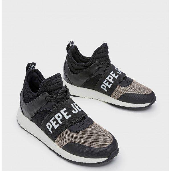 abb7777e Sneakers para mujer abotinadas Pepe Jeans negras con elástico