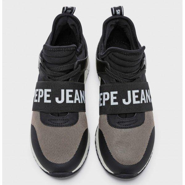 5c5443b851 Sneakers para mujer abotinadas Pepe Jeans negras con elástico