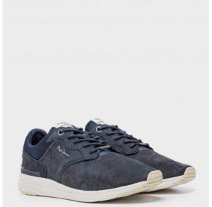 Zapatillas para hombre piel Pepe Jeans Jayker Dual azul marino