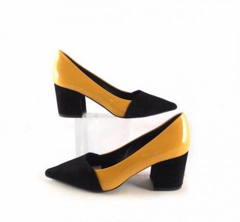 b502fce128a Negros Charol Mostaza Zapatos Moll En Con Gabriela Salón De Piel fwRw4qv