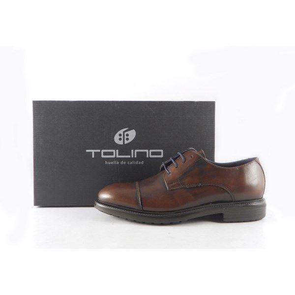 aed89f5c80b Zapatos para hombre marrones de vestir Tolino tipo Oxford con cordones