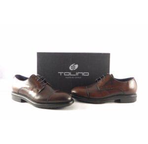 Zapatos para hombre marrones de vestir Tolino tipo Oxford con cordones