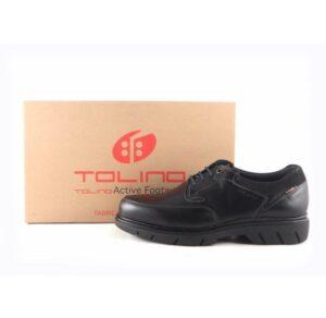 Zapatos negros piel para hombre con cordones Tolino 70330