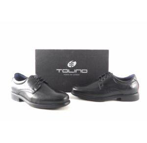 Zapatos para hombre piel negros con cordones Tolino 7711