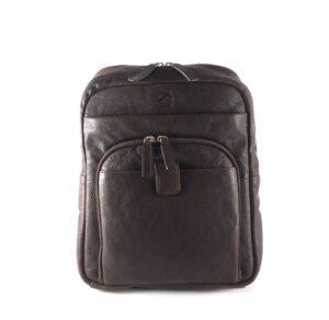 Mochila hombre piel para tablet 10,2″ color marrón