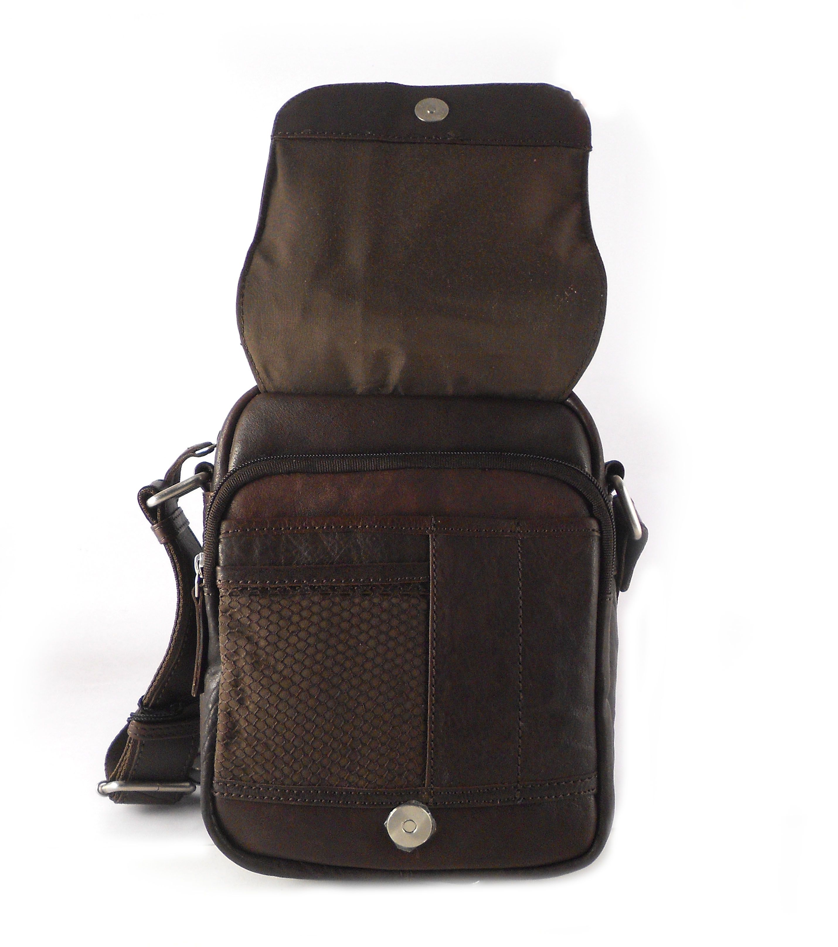 9c41f8e66 Bolso hombre piel Matties con solapa color marrón