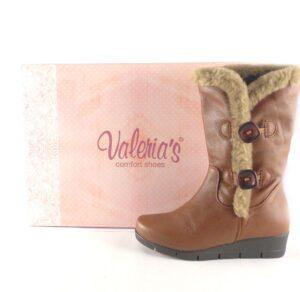 Botas piel para mujer Valeria's con pelo interior y botones