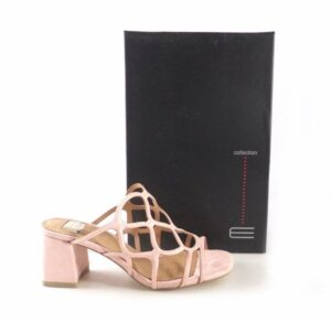 Sandalias de tacón medio E.Ferri color rosa