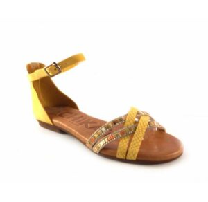 Sandalias planas con pulsera Chika10 Amazona 05 color mostaza
