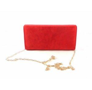Cartera de mano con solapa Prestigio color rojo