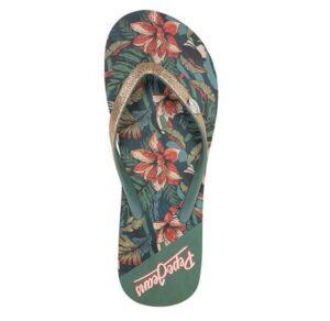 Chanclas para mujer Pepe Jeans Rake Frank gold estampado tropical