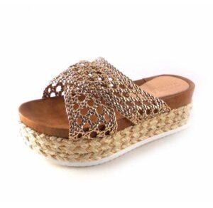 Sandalias de plataforma D'Angela modelo Sabrina color bronce