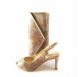 Zapatos de fiesta de tacón D'Angela modelo Alycia color nude