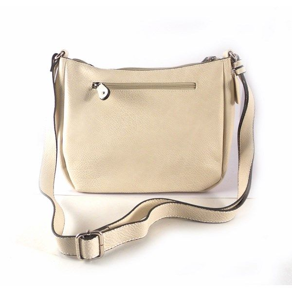 db6b5cc49 Bolso bandolera color negro o beige para mujer Matties Bags Serie Classic