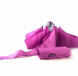 Paraguas mini colección Vogue color rosa con apertura y cierre manual