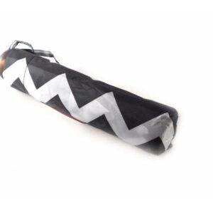 Paraguas con estampado Bisetti negro y blanco