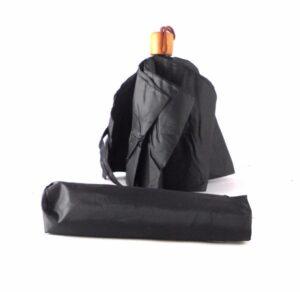Paraguas para hombre Bisetti color negro con apertura/cierre manual