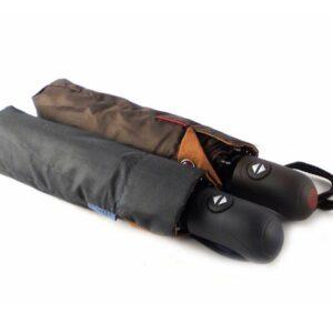 Paraguas plegable con apertura y cierre automático color negro y marrón
