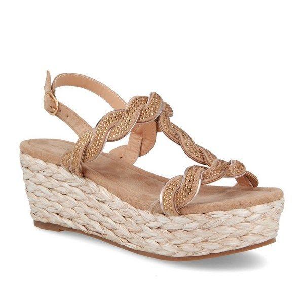 Color Taupe Sandalias Cuña Modelo Madison De D'angela thsrCQBodx