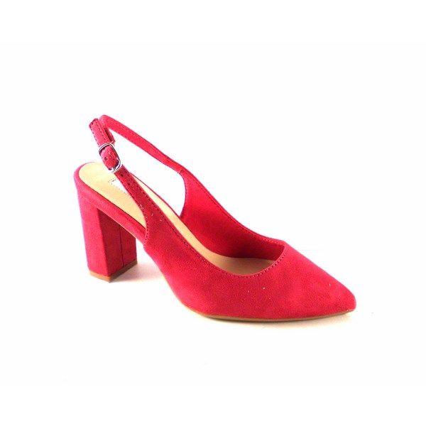 minorista online df544 73aeb Zapatos punta fina y tacón ancho D'Angela Shoes color fucsia
