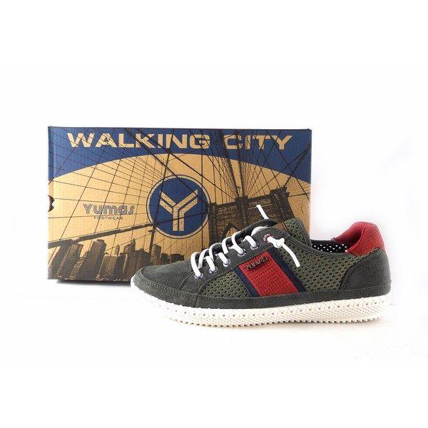 mejor sitio el más baratas online Zapatillas casual hombre YUMAS modelo Lisboa KAKI 42023