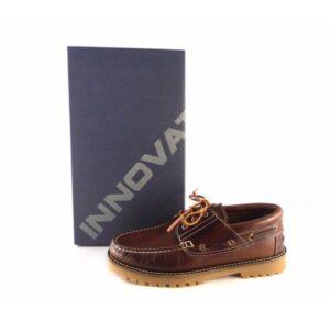 Zapatos náuticos para hombre en piel Innova Shoes color marrón