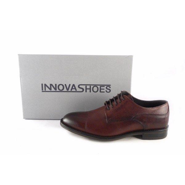 comprar popular 98650 1fe99 Zapatos vestir hombre en piel con cordones Innova Shoes color marrón