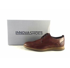 Zapatos hombre vestir tipo Oxford con picado Innova Shoes color marrón