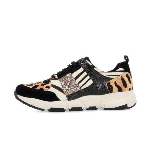 Sneakers mujer GIOSEPPO con mix de estampados modelo BORAS